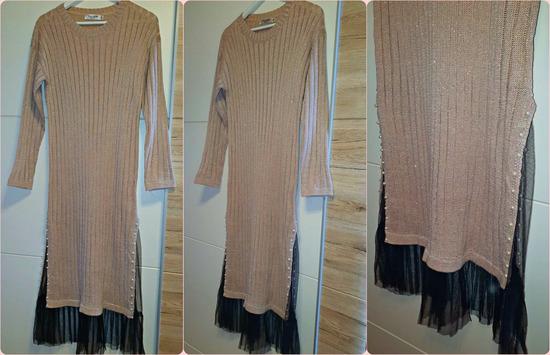 Nova haljina s tilom na rubu i biserima