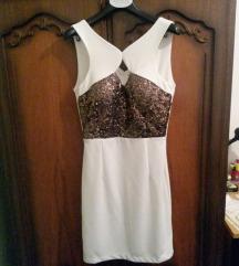 Bijela haljina sa šljokicama
