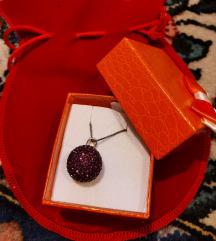 Srebrna ogrlica sa swarowski kristalima - 550 kn