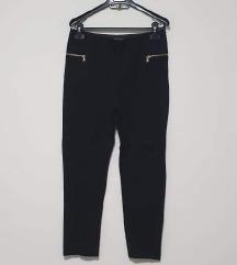 Zara crna tajice/hlače sa zipovima