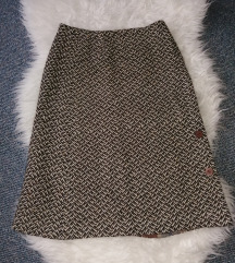 Vintage topla midi suknja S/M