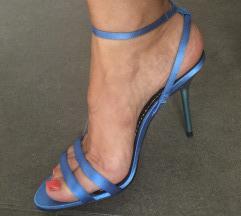 Zara satenske plave sandale