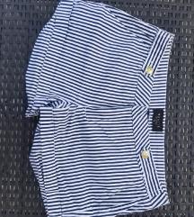 Krate hlače mornarskog uzorka