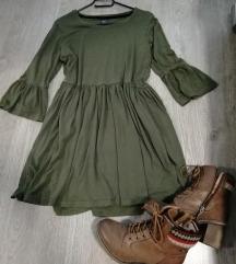 Maslinasto zelena predivna haljina