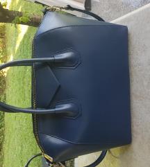 Tamno plava kožna torbica