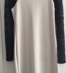 Haljina sa čipkastim rukavima