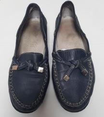 Tamno plave kožne mokasinke loaferice 38