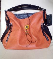 talijanska narančasto-crna torba s etiketom
