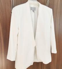 Bijeli strukirani sako H&M