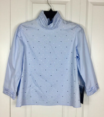 Zara plava majica sa cirkonima