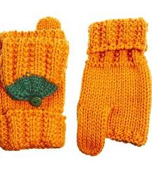 Asos pumpkin orange gloves