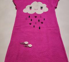 Gymboree pletena haljina i špangice