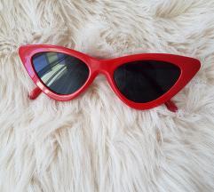 Crvene cat eye suncane naocale