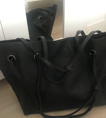 Klasična crna kožna torba