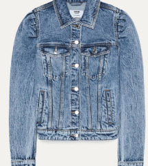 Jeans jaknica sa puf rukavima