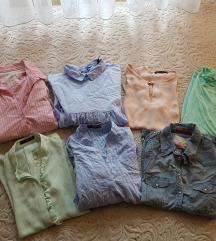 Košuljice i bluzice 7 komada, LOT %sada 75kn!