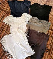 Lot majica i haljina L veličina