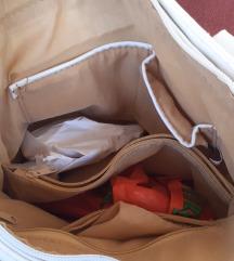 Bijela kožna torbica uklj.dostava
