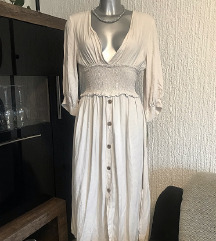 Bijela romantična haljina s etiketom