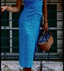 Zara drapirana haljina s etiketom
