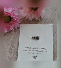 Prozirna ogrlica s 3 privjeska 💫♥️