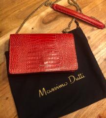 Massimo Dutti crvena torbica-kao novo!