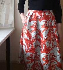 Cvjetna midi suknja | H&M