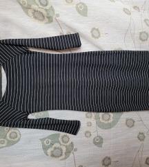 Striped 3/4 sleeved dress