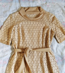 Vintage retro čipkasta haljina