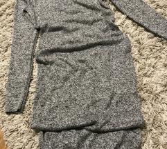 Pletena haljina dugih rukava