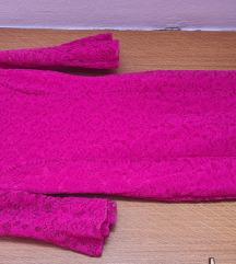 Pink cipka haljina NOVA 😍