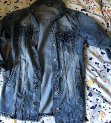 Duža jeans jakna