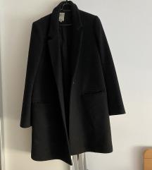 Zara crni basic kaput