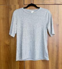 H&M rebrasta majica kratkih rukava