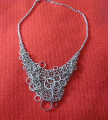 Srebrna ogrlica s mrežom , nova