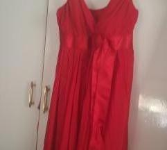 Crvena leprsava haljinica baby doll