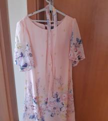 Roza cvjetna haljina
