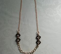 Ogrlica boje zlata besplatna dostava AKCIJA
