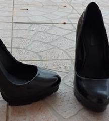 ZARA crne  cipele na petu,36