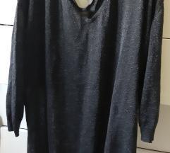 Mango crno sljokasti pulover