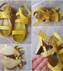 Žute kožne sandalice 38