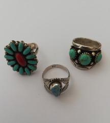 Tri Native American prstena