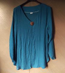 Nova plava svilena bluza