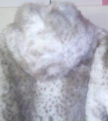 Zara krzno bunda kaput L
