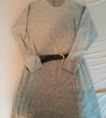 Mango siva pletena haljina tunika vesta