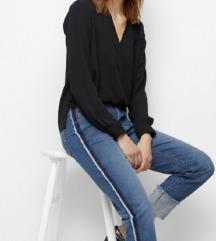 Preklopna crna bluza