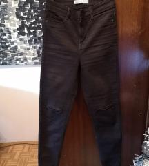 Nove Zara visoki struk crne traperice