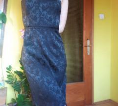 River island ornamentalna crna haljina