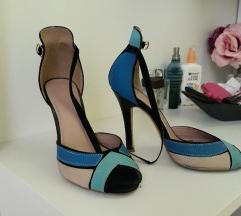 Sandale na visoku petu, Mass, 36 plave