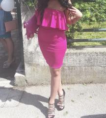Ciklama haljina s volanom